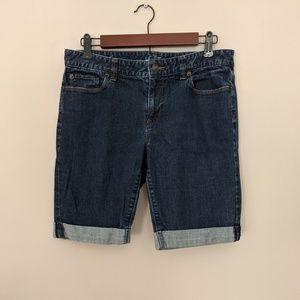 Loft Cuffed Modern Jean Shorts
